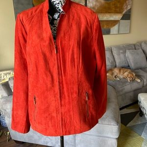 Beautiful burnt orange microfiber jacket